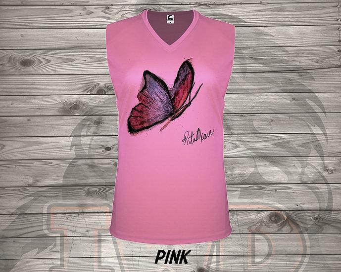 210826.3 - Rita Marie Butterfly - Ladies V- Neck Sleeve