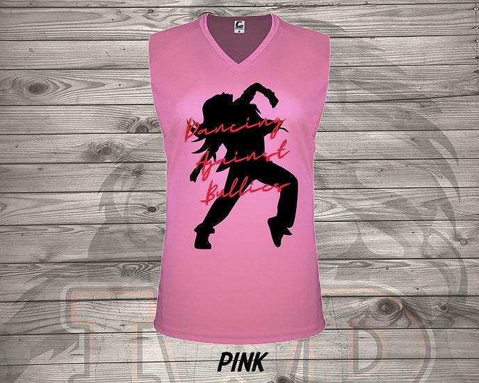210713.2 Dancing Against Bullies V2 - Ladies V- Neck Sleeveless