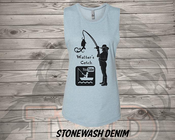 210716.1 Walter's Catch Cowgirl   - Women's Sleeveless Tank - L