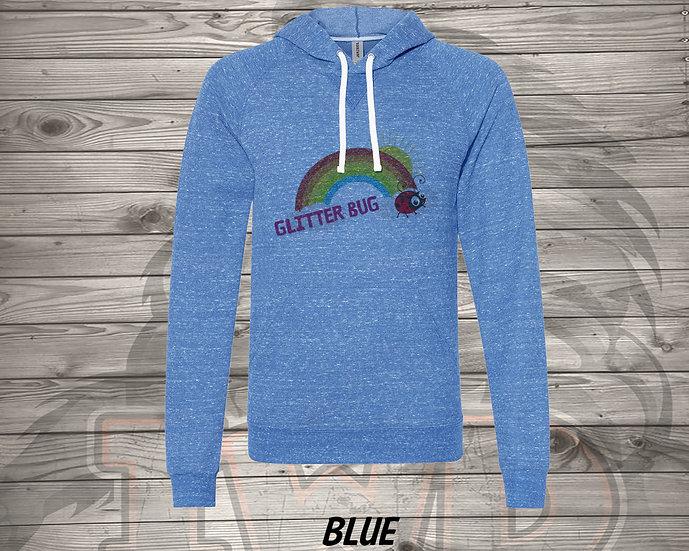 210706.11 - Glitterbug Rainbow - Sweater Hoodie