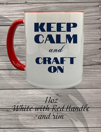 210710.1 Crystal Spangler Keep Calm and Craft On - Coffee Mug