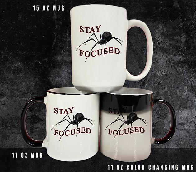 210311.2 Stay Focused (#theblackspiderman) Coffee Mug