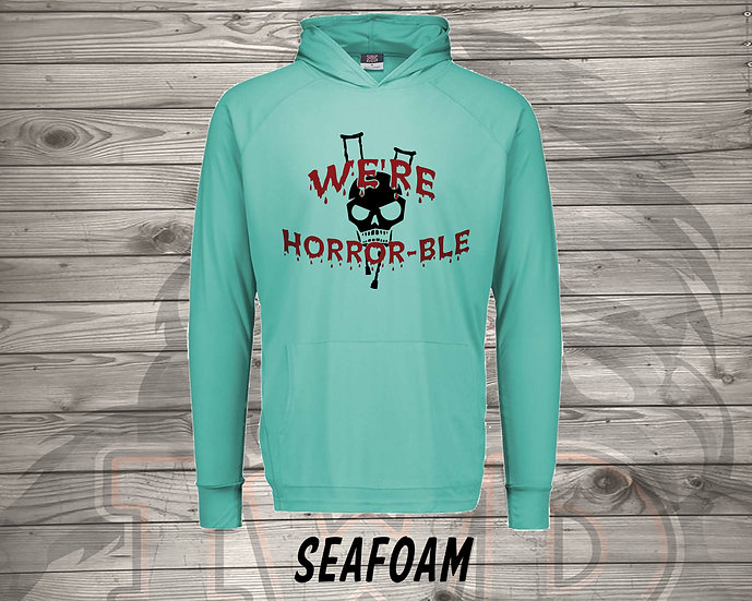210902.4 We're Horrible Logo  - Long Sleeve Hoodie