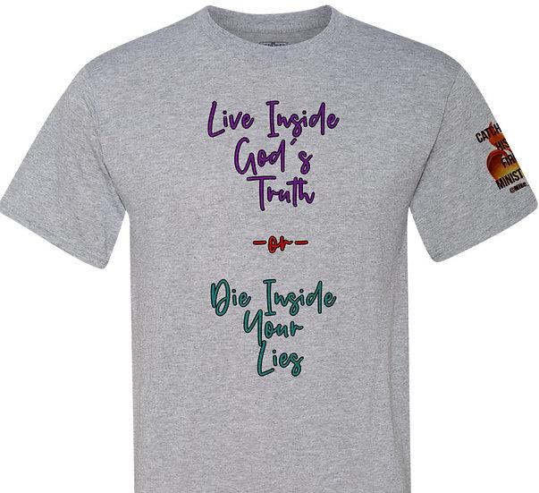 210611.4 - Trump Dad - Live Inside Gods Truth -Unisex T-Shirt (With Sleeve Logo)
