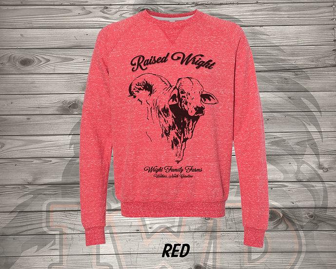 210706.1 - Wright Family Farms - Raised Wright V2  - Sweatshirt