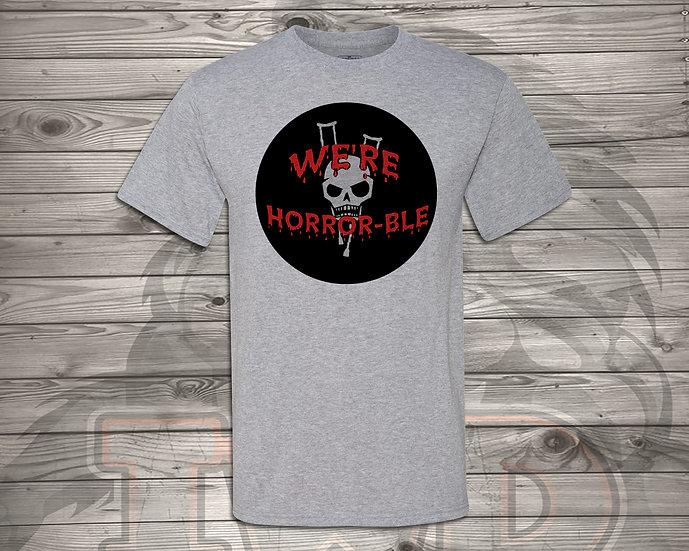 210902.3 We're Horrible Circle Logo - Unisex T-Shirt