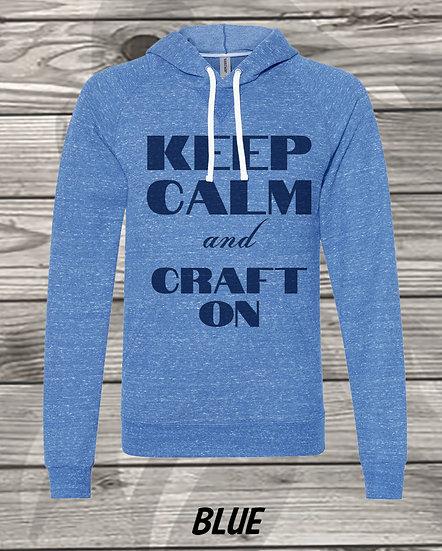 210710.1 Crystal Spangler Keep Calm and Craft On - Sweater Hoodie