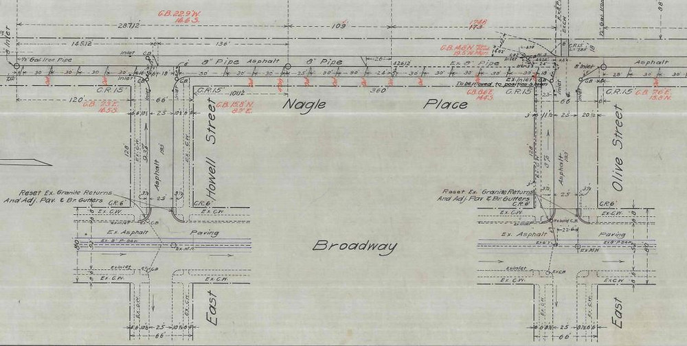 Map for 1909 improvements. SPU Engineering Vault 63-95-1 for ordinance 21537