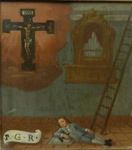 La caduta in chiesa