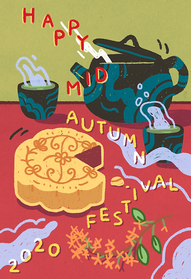 mid autumn festival chinese 2020 illustration drawing