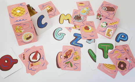 Food Alphabet Flash Cards
