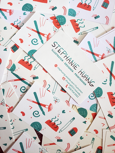 personal business cards by stephanie huang