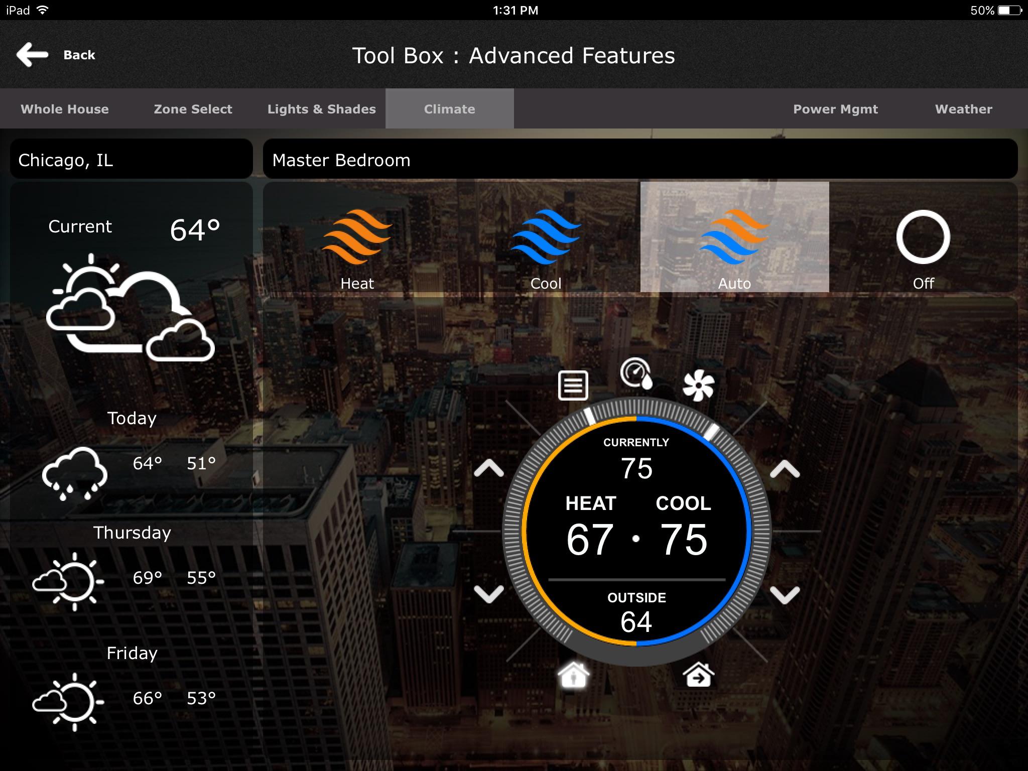 iPad Thermostat Control