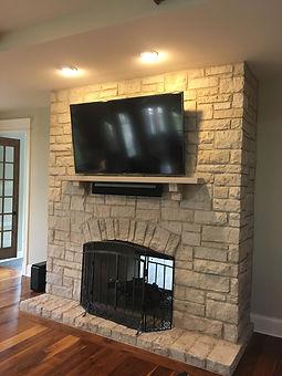 Fireplace TV w/ Sonos Playbar