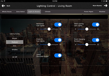 iPad Lighting Control