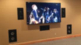 Media Room In Wall Speaker Installation