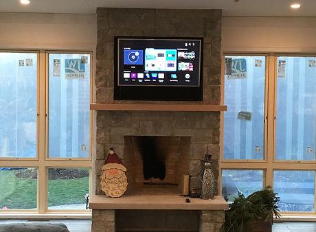 Fireplace TV recess
