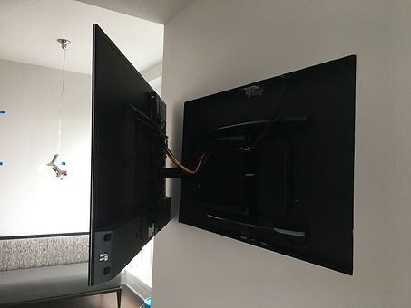 Recessed Articulating Arm TV Mount
