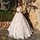 Thumbnail: Long Sleeve Vintage Scoop Neck Appliques Court Train Tulle A Line Bridal Gown