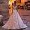 Thumbnail: Backless Lace Princess Wedding Dress Appliques Beaded Flowers Court Train