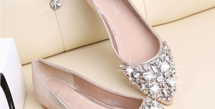 Women's Autumn Shoes Casual Loafer Fashion Women Balletm Crystal Ballerina Flats