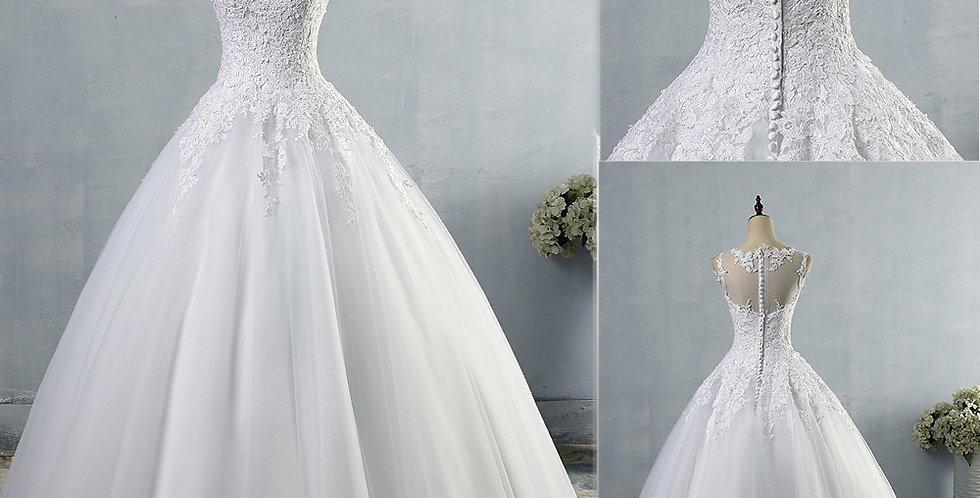 Lace A-Line Wedding Dresses for Bride Dress Gown Vintage