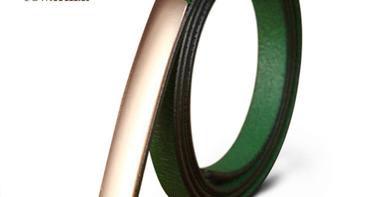 Exquisite Fashion Style Women Belts Genuine Leather High Quality Alloy Buckle