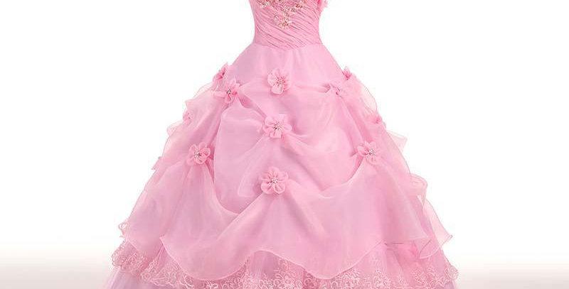 Applique Sweetheart Princess Strapless Wedding Dress