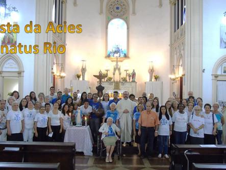 Acies do Senatus Assumpta RJ - Em unidade, membros se encontram na Igreja Nossa Senhora de Fátima
