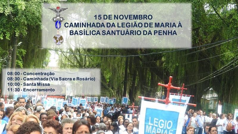 Caminhada da Legião de Maria a Basílica Santuário da Penha
