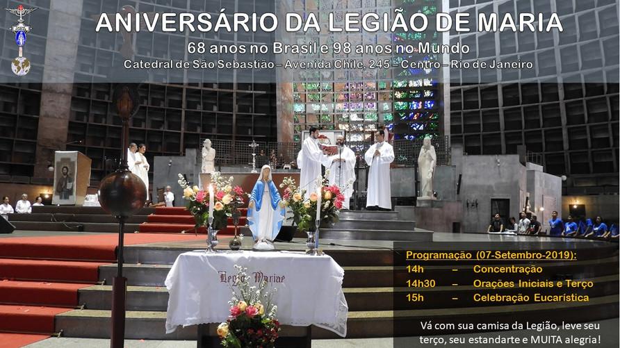 CHAMADA - Aniversario da Legião de Maria 2019