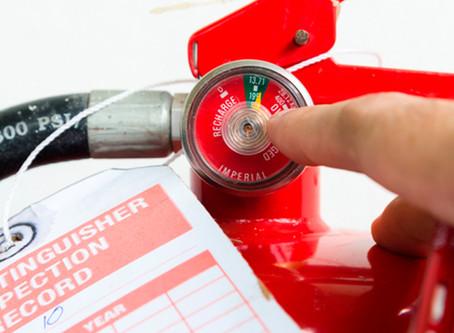 ¿Es obligatoria la inspección de extintores?