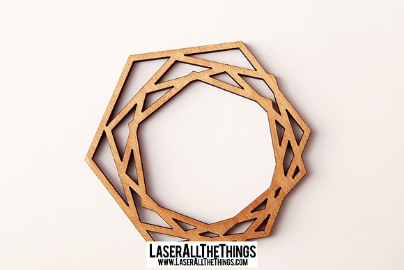 Hexagon Coasters- Set of 6- Wood