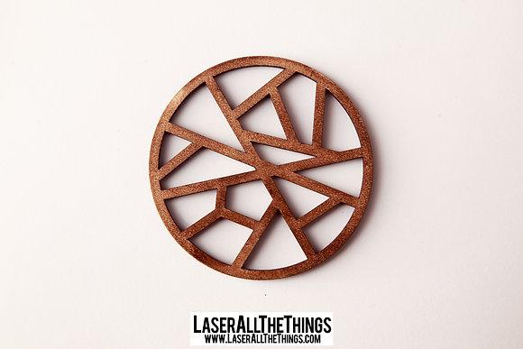 Round Coasters- Set of 6- Wood
