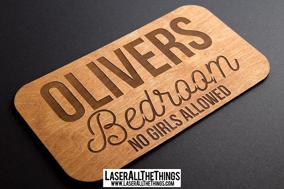 Boys Wooden Bedroom Sign
