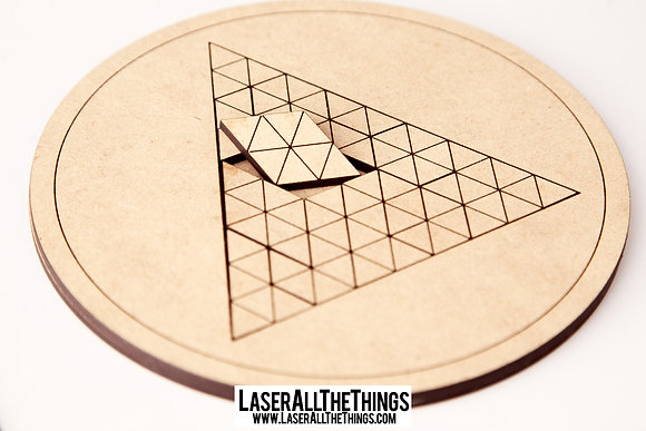 Triangle Puzzle- Wood