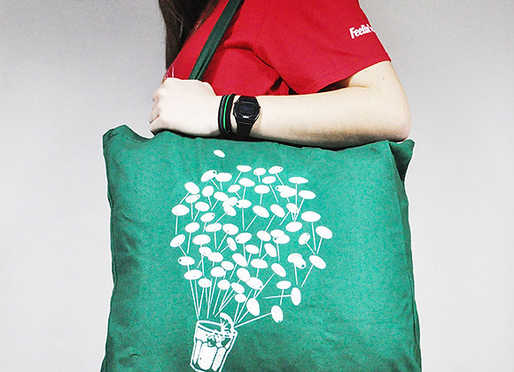 Green Shopper Bag 'Flying Spritz'