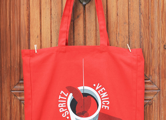 Red Shopper Bag 'Spritz Vintage'