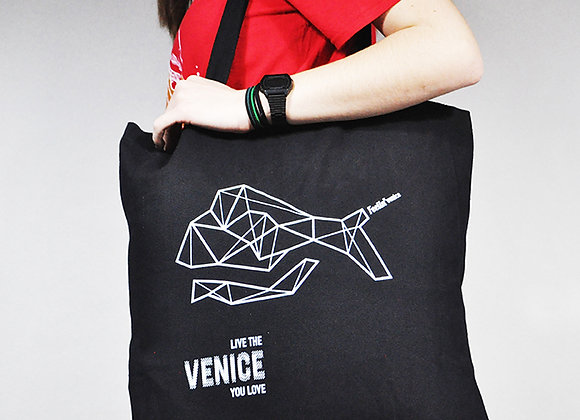 Black Shopper Bag 'Live the Venice you love'