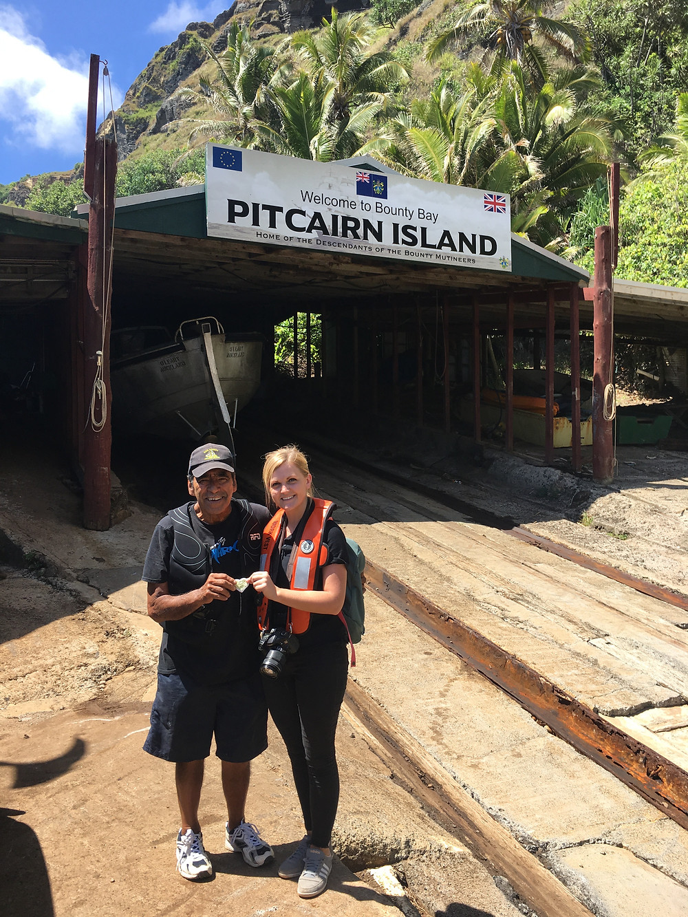 Whitstable Yarn Bombers make it to Pitcairn Island