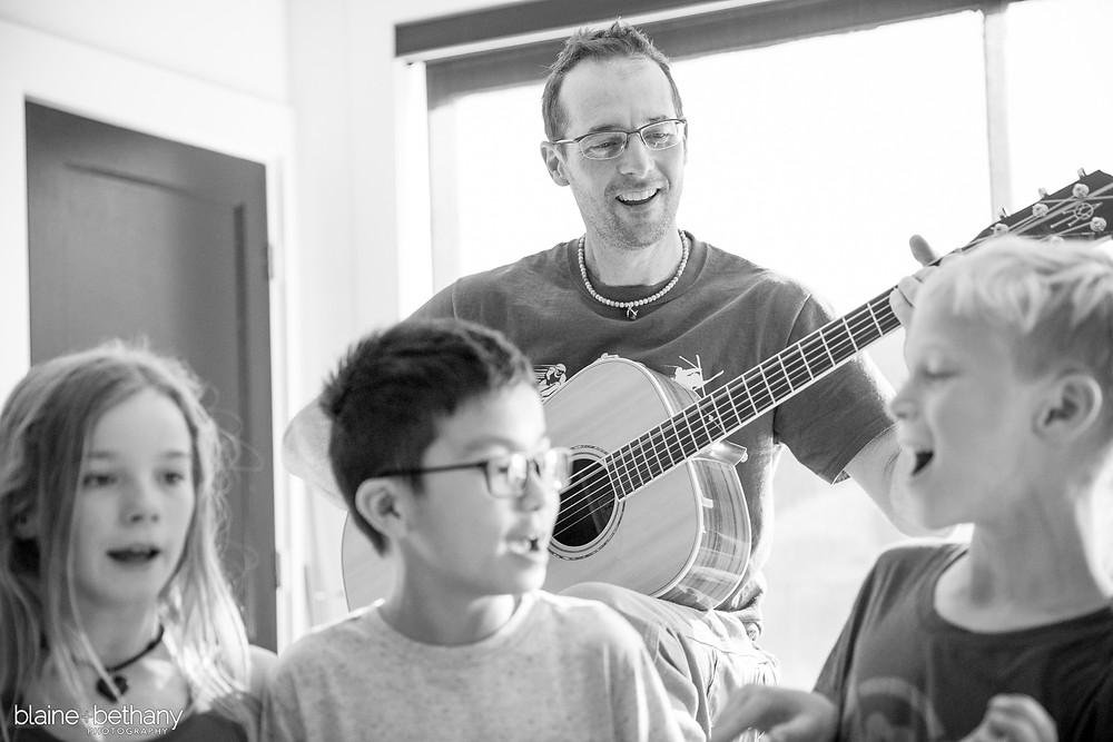 Ceb teaching music through The Gorge Scholar!