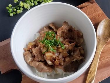 【レシピ】黒酢ソースde豚丼