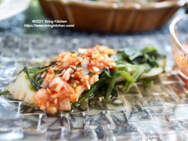 魚グリルでお手軽♡【レシピ】鱈とにらのホイル蒸し