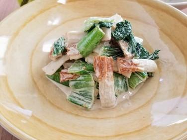 【レシピ】青梗菜と竹輪の柚子胡椒和え