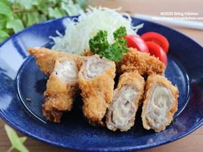 どこにも負けない安全な豚肉でトンカツ【レシピ】麓山高原豚のチーズロールカツ