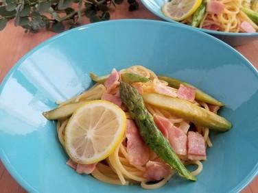 ランチにピッタリ♡アスパラガスのレモンスパゲティ
