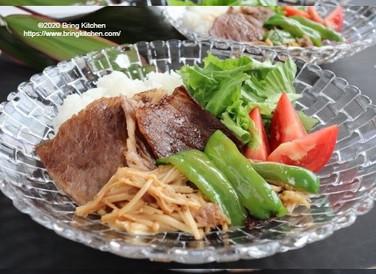 贅沢ワンプレート♡【レシピ】福島牛の黒酢ソース