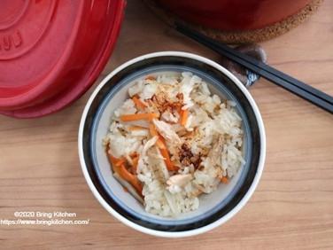 ストウブの魅力♡【レシピ】ツナと牛蒡の炊き込みご飯
