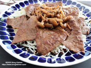 【レシピ】福島牛のガリバタソテーon the キャベツ