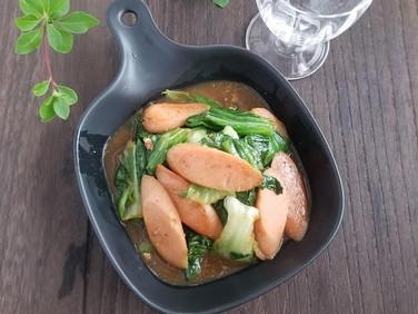 節約レシピ】レタスと魚肉ソーセージのマヨ炒め